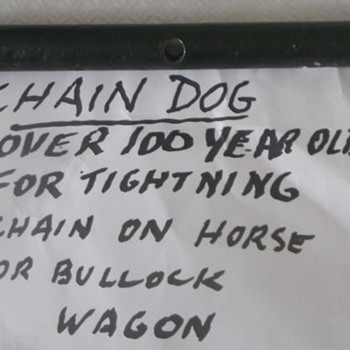Bullock wagon chain tightener