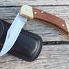 VINTAGE SCHRADE LB7 FOLDING LOCKBACK KNIFE with ORIGINAL BLACK LEATHER SHEATH