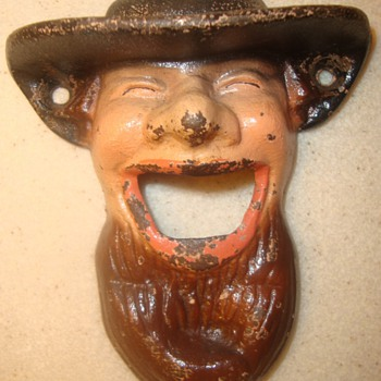 VERY RARE Amish Man Bottle Opener