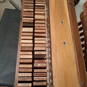 Box of Wood Samples - Tools and Hardware