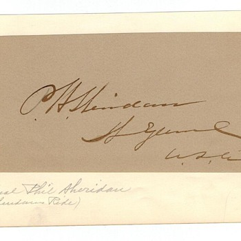 Philip Henry Sheridan Autograph - Civil War General, General of the Armies of the United States