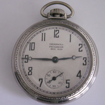 1833-1933 Century of Progress Chicago Watch &amp; Fob - Pocket Watches