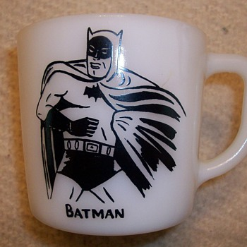 Batman Milk Glass Mug From 1966 - Glassware
