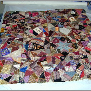 Old Hand Made Quilt Top - Folk Art