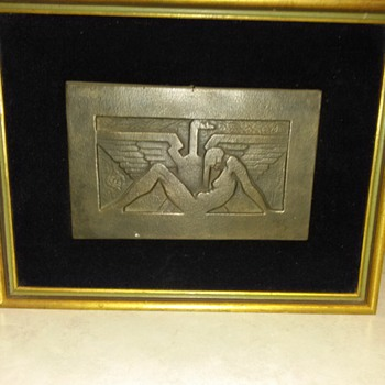 METAL ARTWORK WALL PLAQUE - Art Deco
