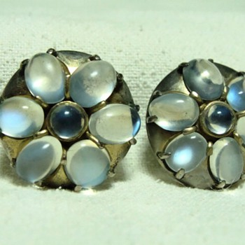 Antique and Vintage Moonstone Earrings  - Fine Jewelry