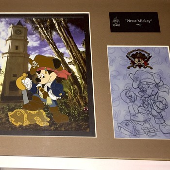 Pirate Mickey Mouse cel