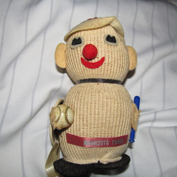 Stuart's Creations 1965? MN Twins Knit Doll - Baseball