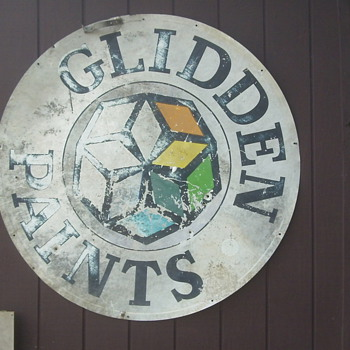 Vintage Glidden Paints Sign