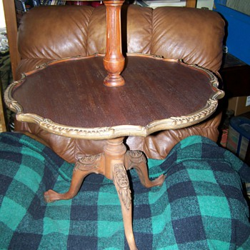 Two Tiered Clawfoot Table Mystery Piece Please Help