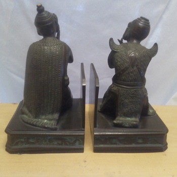 Copper(?) bookends from Java circa 1912 - Asian