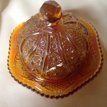 Indiana Glass Carnival Butter Dish