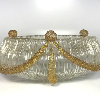 Loetz Blitz Empire Bowl. Circa 1905. PN II-2594
