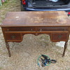 1800's Walnut & Gum Desk