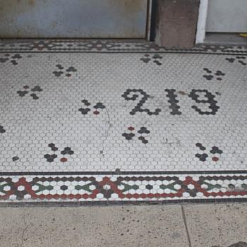 Mosaic Tile Sidewalk, Wilkes-Barre, PA - Art Pottery