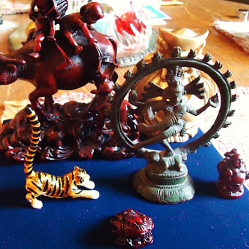 Asian Figures $16.09  I just wanted the bell and Dancing Shiva Nataraja, Tiger maybe not Asian? - Asian