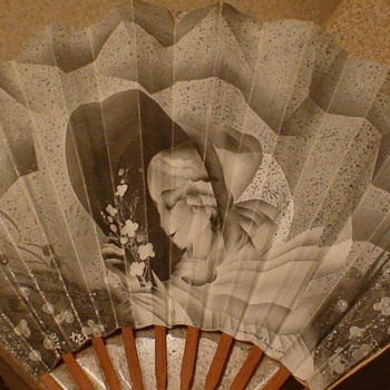 Art Deco Paper Fan Hotel Lutetia Paris France - Accessories