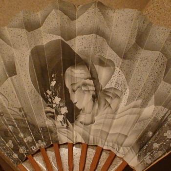 Art Deco Paper Fan Hotel Lutetia Paris France