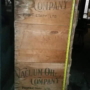 Vacuum Oil crate? 5ft long. Unsure if original?