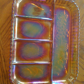 Indiana glass relish tray
