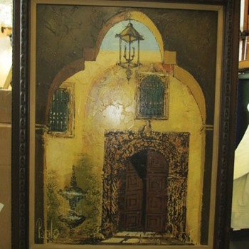"""El Patio"" Large 20x30 Oil by Pablo - Visual Art"
