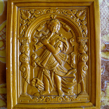 antique German maybe stove tile 16th century ???