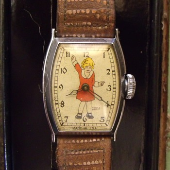 "1934 New Haven ""Orphan Annie"" watch and box"