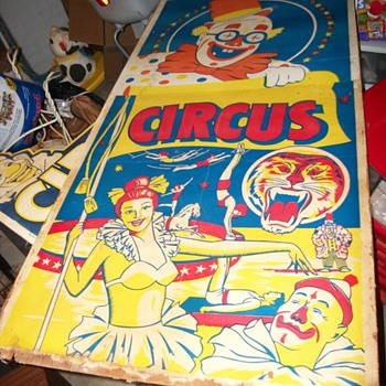 1930's/1940's Wooden Circus Posters - Posters and Prints