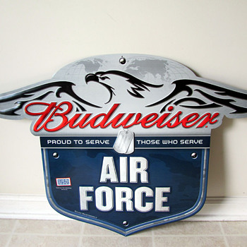 Budweiser Air Force Sign - Breweriana