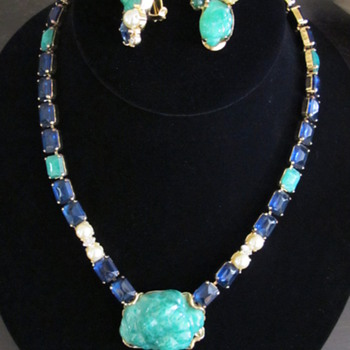 Schreiner Necklace and Earrings! - Costume Jewelry