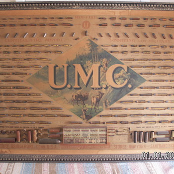 1899 UMC bullet board - Military and Wartime