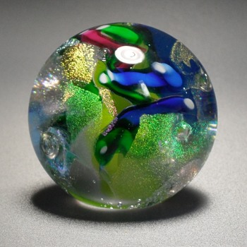 Glass Eye Studios Round Paperweight GES 99