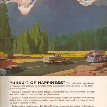 1952 - Budd Transportation Advertisement - Advertising