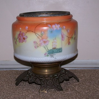 Antique Hurricane Lamp - Lamps