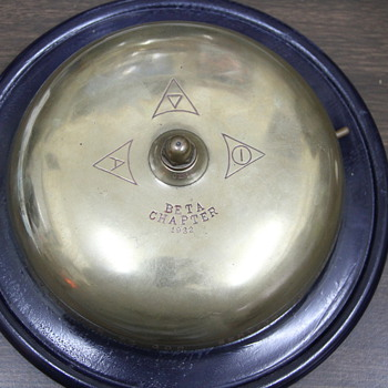 Brass Table Top Sorority Bell 1932