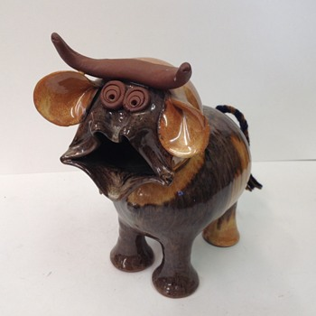 Brown Ceramic bull