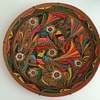 Neon-painted Terra Cotta Plate