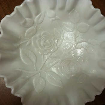 White milk glass? - Glassware