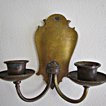 S & A Brass  Candle Wall  Sconces