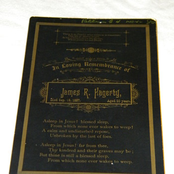 Antique Funeral Memorial Cabinet Card