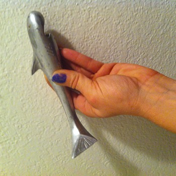 My adorable retro shark bottle opener
