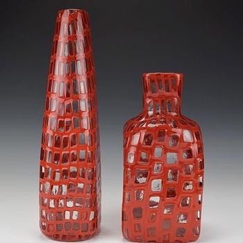 VENINI MURANO OCCHI VASES CIRCA 1960 - Art Glass