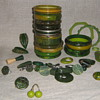 Green bakelite &amp; lucite beuties