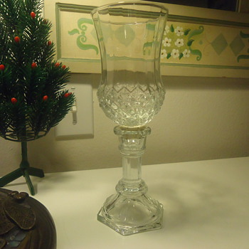 CUT GLASS CANDEL HOLDER  - Glassware
