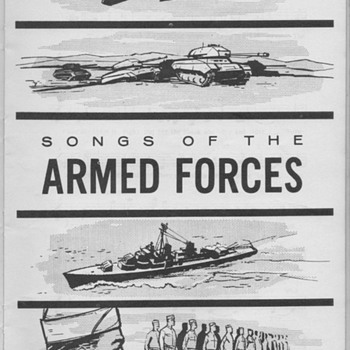1956 - The Army-Air Force Song Book - Paper