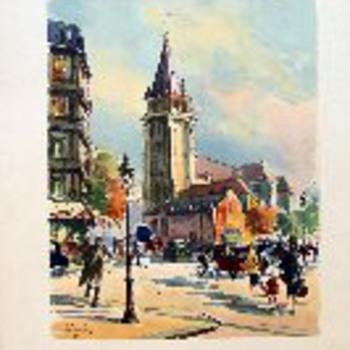 Paris St. Germian de Pres watercolor