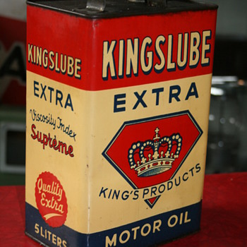 kingslube oil can - Petroliana