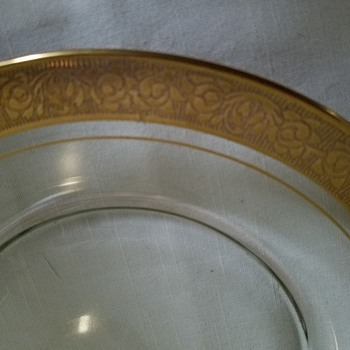 Grandmother's gold rimmed dishes