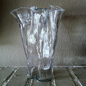 Muurla Icy Art Glass Handkerchief Vase