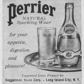 1954 Perrier Advertisement - Advertising